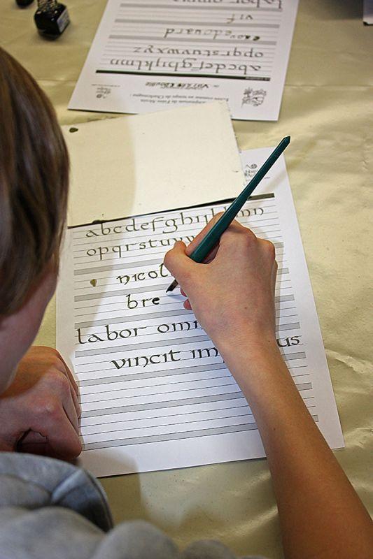 Aulps, Domaine de Découverte, atelier calligraphie