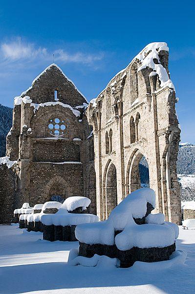 Aulps, abbaye, abbatiale, nef