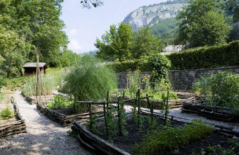 Aulps, abbaye, jardin, potager, médiéval