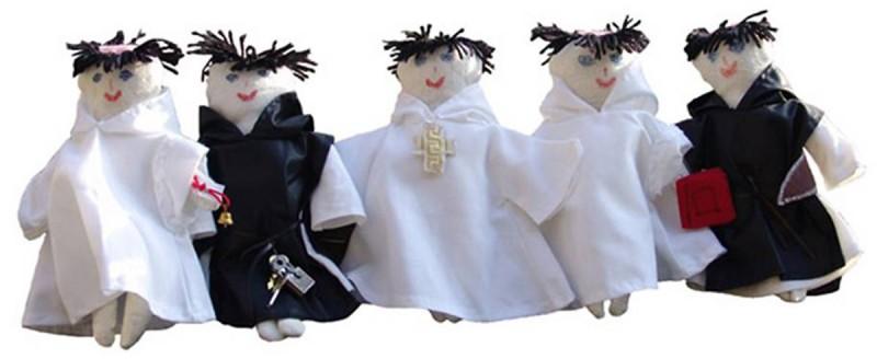 Poupées moines à habiller